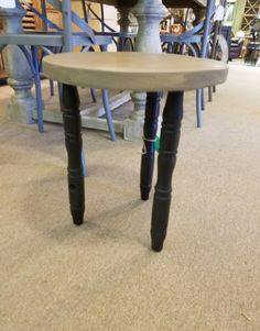"""3 Leg Black and Gray Stool – Belle Patri Home Furnishings & Accessories """"Make your House a beautiful home"""""""