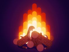 Animation Camp Fire gif motion loop design effects after camp fire fall animation graphics - Happy Fall Everyone Fire Animation, Camping Resort, Camping Lights, Camping Tarp, Camping Equipment, Graphic Art, Graphic Design, Illustration Art, Illustrations