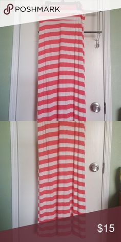 540be5cb83 Shop Women's Brat Star Pink White size M Maxi at a discounted price at  Poshmark. Description: Women's Medium, Pink and White Striped, Maxi Skirt,  ...