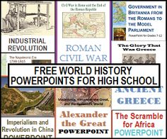 World History Powerpoints for High School - All are free.