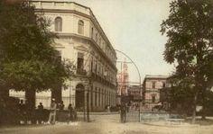 1910 - Correio Geral. Foto tirada a partir do Pátio do Colégio.