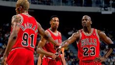 "Dennis Rodman, Scottie Pippen, and Michael Jordan ( the trifecta) i adored the ""Bulls"" back, in the day. There has never been another basket ball team since,  that could touch them- Never! I disliked basketball til i began watching them play, they were unbelievably good!! -Unbeatable.  E.C.C."
