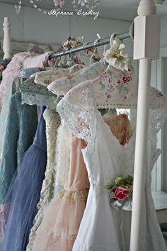 """""""Romantic Vintage Dresses All in a Row #fashion"""""""