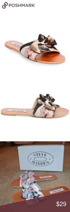 b355f709075d69 STEVE MADDEN Slide Sandals NWT! In Pink Multi Express your trendsetting  style with the Steve