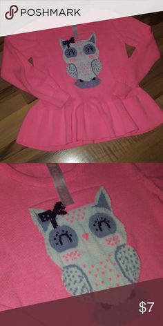 Pink Owl Sweater August 2017