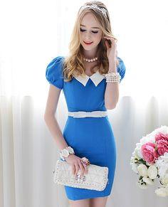 Elegant Classic Blue Dress