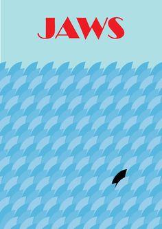 jaws minimalist movie poster