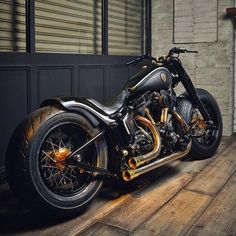 """Custom Harley Davidson Softail Slim motorcycle by Rough Crafts.  This bike is known as """"Crowned Stallion"""" and is one of my favorite bikes to date."""