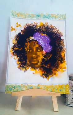 African Girl A4 Sized Mixed Media Print