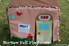 Sew Can Do: No-Sew Felt Playhouse Tutorial. brilliant!