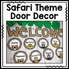 Back to School Door Decor Safari Theme