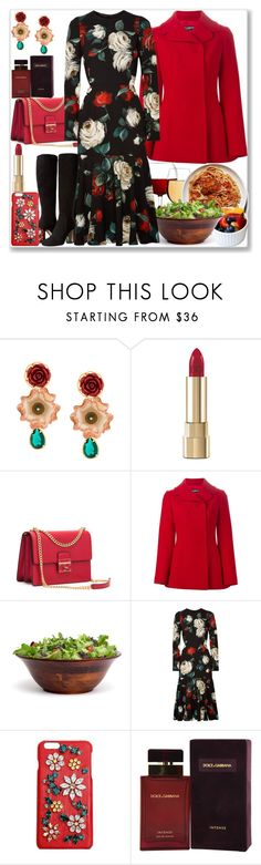 """S Is For...Spaghetti, Salad"" by nefertiti1373 ❤ liked on Polyvore featuring Dolce&Gabbana and Lipper"