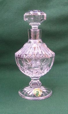 Waterford Lismore Tall Footed Perfume Bottle