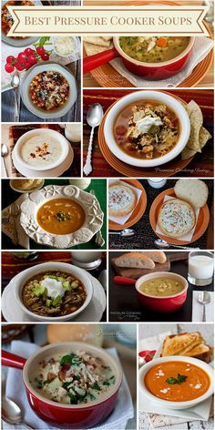 Best Pressure Cooker Soups on Pressure Cooking Today.  My soup recipes are the recipes I make most often in the pressure cooker.