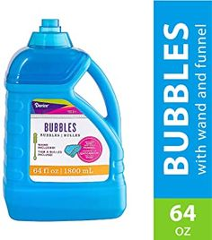 Amazon.com: Darice 64-Ounce Bubble Solution-Includes Wand and Easy Pour Funnel Top-Works with Bubble Machines-for Weddings, Birthdays and Outdoor Events: Home & Kitchen Big Bubble Wand, Giant Bubble Wands, Bubble Fun, Giant Bubbles, Bubble Party, Outside Party Games, Outside Games For Kids, Homemade Bubble Solution, Homemade Bubbles