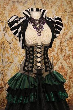 Gray Suiting Triple Laced Corset