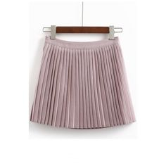 Women's Pleated High Waist A-line Mini Skirt ($31) ❤ liked on Polyvore featuring skirts, mini skirts, brown skirt, high waist skirt, high waisted pleated skirt, pleated skirt and high waisted short skirts