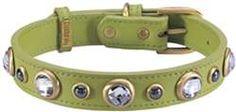 Dosha Dog Green Diamond Collar