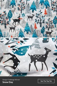 Announcing the Winners of our Snow Day Design Challenge! http://blog.spoonflower.com/2016/12/announcing-the-winners-of-our-snow-day-design-challenge/