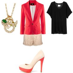 Bright pink blazer...yes please!