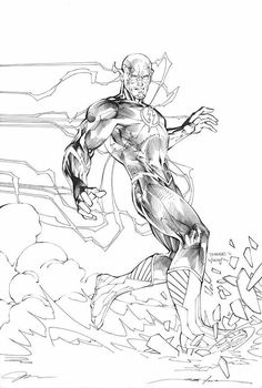 Flash - Jim Lee ross marvel frost four ramos kirby lee deodato surfer bianchi men Comic Book Artists, Comic Book Characters, Comic Artist, Comic Character, Comic Books Art, Jim Lee Art, Arte Robot, Comic Kunst, Comic Drawing