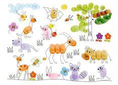 как рисовать отпечатками пальцев - идеи для детского творчества 2