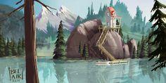 Casa no Lago - Ilustração