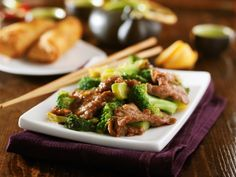 Slow cooker beef and broccoli (steam broccoli just prior to eating)