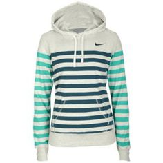 Nike Stripe Pullover Hoodie - Women's - Clothing