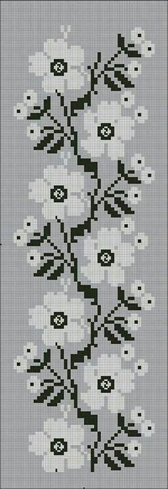 This Pin was discovered by Еле Crochet Borders, Cross Stitch Borders, Cross Stitch Flowers, Cross Stitch Designs, Cross Stitching, Cross Stitch Embroidery, Embroidery Patterns, Cross Stitch Patterns, Beaded Cross