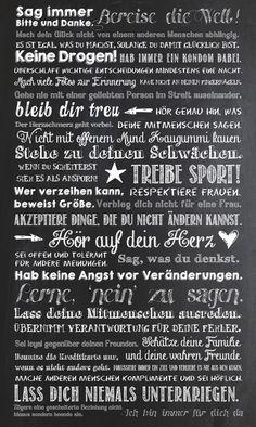 Lebensweisheiten für Söhne (via Bloglovin.com )