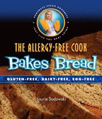 The Allergy Free Cook Bakes Bread is informative and includes recipes that are gluten, dairy and egg free and most are free of other allergens. Includes recipes for making crackers, breads, begels pitsa tortillas, cinnamon rolls and more. http://www.veggiesensations.com/collections/bread-baking-cookbooks/products/the-allergy-free-cook-bakes-bread