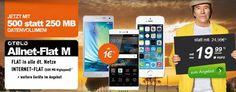 500MB OTELO Allnet Flat M für 19,99€ mit Smartphones ab 1€ http://www.simdealz.de/vodafone/otelo-allnet-flat-m-mit-smartphones-ab-1-eur/