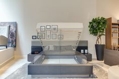 Get ready for your sleeping area to turn into a magical environment! An added (and often essential) bonus, the Istanbul Bed also features 30x35 cubic feet of ample storage below the mattress. Choose to upholster the bed in a luxurious leather or fabric and use either wood or lacquer for the base to complete the look.  #storagebed #modernbedframe #modernbedroom #custombedframe #leatherheadboard #italiandesign #interiordesign #interiordesign