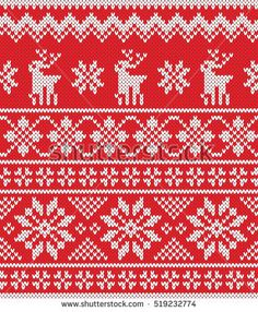 Christmas New Year Design Seamless Knitting stockvector (rechtenvrij) 469991222 Christmas Things, Christmas And New Year, New Year Designs, Pattern Images, Vectors, Knitted Hats, Knitting Patterns, Projects To Try, Royalty Free Stock Photos