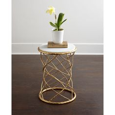 Serenity Side Table (€650) ❤ liked on Polyvore featuring home, furniture, tables, accent tables, iron furniture, hand made furniture, leaf tables, white marble table and handcrafted furniture