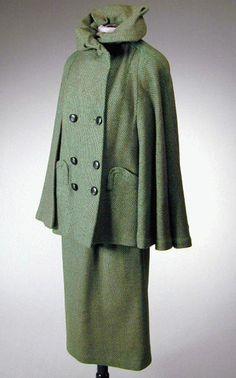 Jacques Fath Tweed Suit  1950s