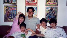 Rita com Roberto e os filhos Antônio, João e Beto