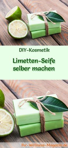 Limetten-Seife selber machen – Seifen-Rezept & Anleitung DIY Soap Recipe: Make lime soap yourself – If you like it a little tart or want to make a nice men's soap, with a lime soap on the safe side. Slime, Presents For Her, Soap Base, Recipe Instructions, Soap Recipes, Diy Pillows, Home Made Soap, Soap Making, Diy Paper