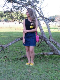 #lookdodia #blogentregarotas #saiajeans #saiadebotão #emojis