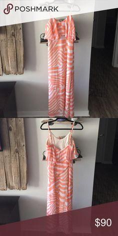 Lovposh salmon pink and white maxi dress Lovposh salmon pink and white maxi dress. Size small. Lovposh Dresses Maxi
