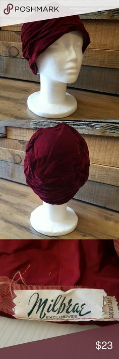 Selling this Maroon Vintage Hat on Poshmark! My username is: srbrock. #shopmycloset #poshmark #fashion #shopping #style #forsale #Milbrae #Accessories