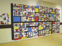Mondrian Art room Display Primary colors lesson