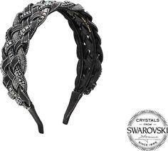 Valérie Valentine Exclusive braided leather and Swarovski crystals Twist headband