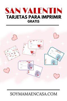 3 lindos set de tarjetas para imprimir gratis en el Día de San Valentín, incluye…