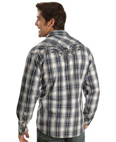 90 Proof by Panhandle Slim Flannel Plaid Western Shirt