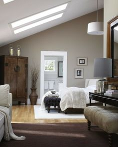 wohnideen schlafzimmer dachschräge bett holzmöbel | home | pinterest - Wohnung Einrichten Wohnideen Fur Zimmer Dachschrage