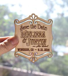 100 Rustic wooden Invitations or Save the Dates, Personalized Wedding Announcements, Engagement Party on Etsy, $198.00
