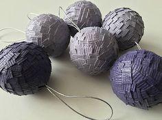 HomeDecor / Vianočné gule - fialové