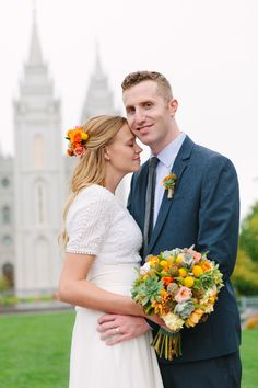 brittan's salt lake city temple wedding- gown by janet gleave - pleinairdesign.com